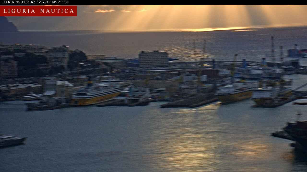 Webcam Genova porto - Liguria Nautica